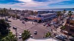 Bird`s eye view of Mission Blvd and beach