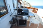 Grill on condo balcony