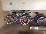 2 beach cruisers tricycle pictured no longer available 4 beach chairs, and sand toys