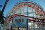 Take a whirl on this historic 1925 wooden rollercoaster