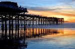 Sunset at Crystal Pier, just 4 blocks from your vacation rental