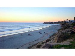 A beautiful sunset in Pacific Beach, San Diego from Law Street Palisades Park