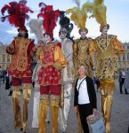 Nancy with the tall people of the Nocturnes at Versailles
