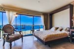 Queen Murphy Bed with awesome view of bay.