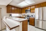 Fully equipped kitchen with everything you need for dining in.