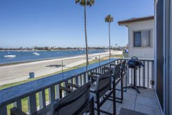 Mission Bay condo on the beach with incredible bay views.