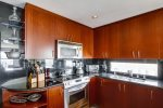 Fully equipped kitchen with everything you`d need in your home away from home.