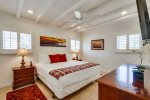 Eastern king size bed in master bedroom.