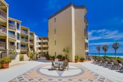 See the Sea Condominium complex on the ocean at Crystal Pier.