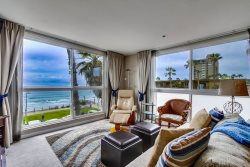 Living room with an expansive ocean view