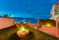 A fire in the evening, with the expansive Ocean View in the background, creates the perfect romantic night or family marshmallow roast
