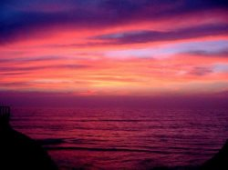 Sunsets like this are the norm at beautiful Sunset Cliffs, only a few short blocks away