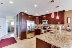 Beautiful, remodeled kitchen with granite countertops