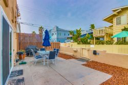 Front  private patio - Great for BBQs, watching sunsets and relaxing