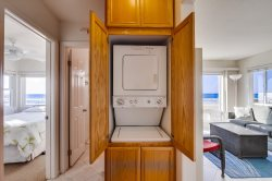There is a washer\/dryer inside the condo for your convenience.