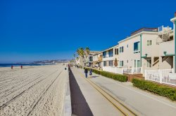 The Mission and Pacific Beach boardwalk stretches for 3.5 miles in one direction
