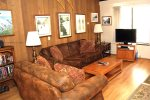 Mammoth Lakes Condo Rental Sunshine Village 132 - Living Room has a Flat Screen TV