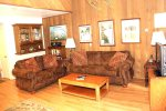 Mammoth Lakes Vacation Rental Sunshine Village 132 - Cozy Living Room with 1 Queen Sofa Bed