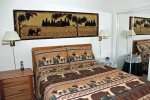 Mammoth Lakes Rental Sunshine Village 175 - Master Bedroom has 1 Queen Bed and Mirrored Closet