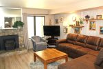 Mammoth Lakes Condo Rental Sunshine Village 175 - Living Room  with Flat Screen TV and Queen Sofa Bed
