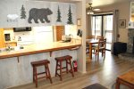 Mammoth Lakes Rental Sunshine Village 175 - Dining Room and Outside Balcony Slider