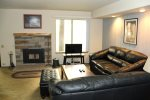 Mammoth Lakes Condo Rental Sunshine Village 167 - Living Room has a Woodstove