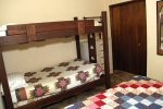 Mammoth Lakes Rental Sunshine Village 167 - 2nd Bedroom has 1 Queen and 1 Twin Set of Bunk Beds