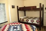 Mammoth Lakes Condo Rental Sunshine Village 167 - 2nd Bedroom has 1 Queen and 1 Twin Set of Bunk Beds
