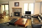 Mammoth Lakes Rental Sunshine Village 167 - Open Area Living Room Towards Dining Room