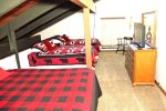Mammoth Lakes Rental Sunshine Village 150 - Loft has 1 King Bed and 2 Twin Beds and a TV