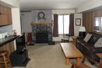 Mammoth Lakes Condo Rental Sunshine Village 103 - Living Room with 1 Queen Sofa Sleeper
