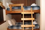 Mammoth Lakes Vacation Rental Sunshine Village 103 - Twin Bunk Alcove Sleeping Area towards the Living Room