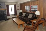Mammoth Lakes Vacation Rental Sunshine Village 103 - Living Room has 1 Queen Sofa Sleeper