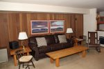 Mammoth Lakes Rental Sunshine Village 103 - Living Room Towards Bunk Alcove Sleeping Area
