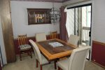 Mammoth Lakes Vacation Rental Sunshine Village 103 - Dining Room Towards Outside Balcony