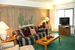 Mammoth Lakes Vacation Rental Sunshine Village 177  - Living Room has a Flat Screen TV
