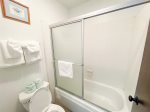 Mammoth Lakes Vacation Rental Sunshine Village 157 - 2nd Bedroom has 1 Queen Bed and Twin Bunk Beds