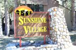 Mammoth Lakes Condo Rental Sunshine Village Entrance Sign