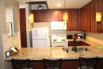 Mammoth Lakes Rental Sunshine Village 136 - Upgraded Kitchen Granite Counter Bar Area