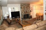 Mammoth Lakes Condo Rental Sunshine Village 165 - Living Room has a large Flat Screen TV