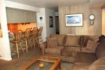 Mammoth Lakes Vacation Rental Sunshine Village 165 - Open Area Living room Towards Kitchen
