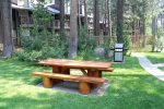 Mammoth Lakes Condo Rental Sunshine Village BBQ Area