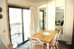 Mammoth Lakes Vacation Rental Sunshine Village 137 - Dining Room with Slider to access outside balcony