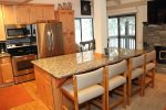 Mammoth Lakes Rental Sunshine Village 148 large kitchen island with seating for 5
