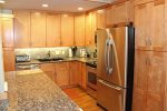 Mammoth Lakes Rental Sunshine Village 148 remodeled kitchen with stainless steel appliances