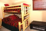 Mammoth Lakes Rental Sunrise 9 - Loft has 1 set of Bunk Beds with a Full on the bottom and a Twin on the top and a Twin pullout mattress