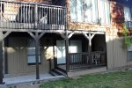 Mammoth Condo Rental Chateau Blanc 1: Back of Condo with deck and patio