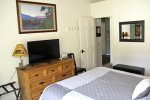 Mammoth Rental Wildflower 2 - Master Bedroom has a Flat Screen TV