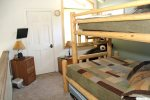 Mammoth Lakes Condo Rental Wildflower 2 - Loft Area Bunk Beds and TV