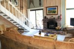 Mammoth Rental Wildflower 2 - Living Room access to outside balcony